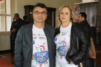 O empresário Luiz Fernando Cardoso e Marlene Frauches Cardoso