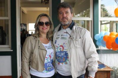 Júlio César Fialho Esteves e sua amada, Giselli Simões Tognasca Esteves