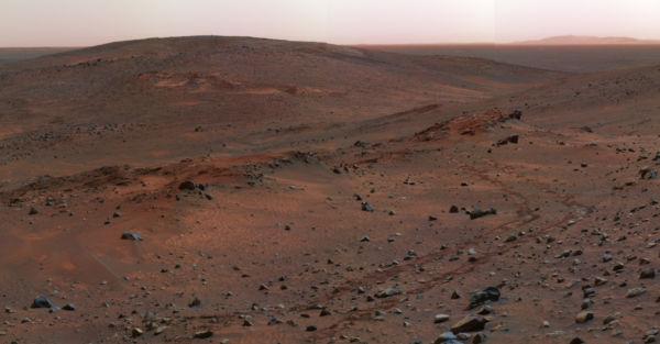 Estéril: A paisagem desolada de Marte fotografada pelo robô Spirit