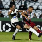 Joia tricolor: Richarlison acertou um bonito chute, abrindo o placar para o Fluminense (Foto: Nelson Perez/Fluminense F.C.)