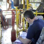 Fiscalização: Dez veículos passaram pela inspeção da secretaria municipal de Transporte e Mobilidade Urbana nesta segunda-feira, na Ilha São João (Foto de Geraldo Gonçalves/ Secom VR)