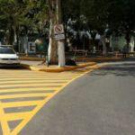 Alteração: Nova sinalização viária da Praça dos Expedicionários, no Centro de Quatis (Foto: Divulgação PMQ)