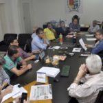 Reunião no gabinete do prefeito Rodrigo Drable discute obras de ETE do Ano Bom (foto: Paulo Dimas)