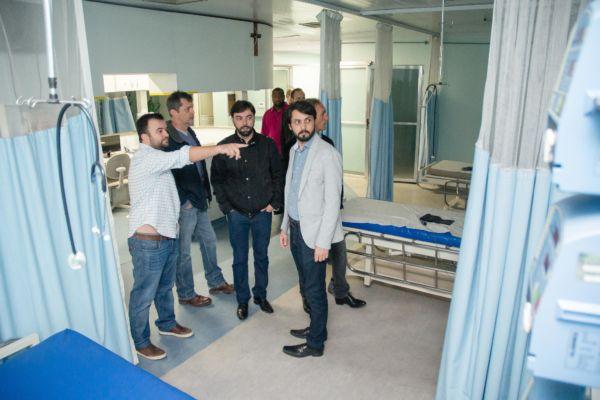 Samuca Silva visita instalações da clínica São Camilo (foto: Gabriel Borges - PMVR)