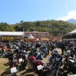 Tradicional: XXI Encontro Internacional de Motociclistas reuniu amantes de rock n'roll e motocicletas no Clube Finlândia, em Penedo (Foto: Divulgação)