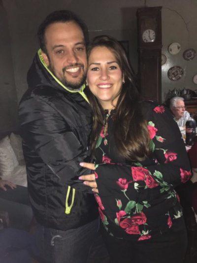 Christiane Haasis e seu noivo, Conrado Seixas, em recente acontecimento