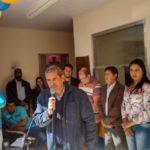 Falando: Bruno de Souza discursa na entrega das obras da escola de Santana