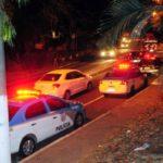 Viaturas do Corpo de Bombeiros, da Polícia Militar e da Guarda Municipal foram até o local (Foto: Paulo Dimas)