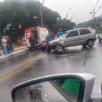Acidente deixa trânsito lento na Beira-Rio (foto: Enviada pelo WhatsApp)