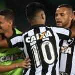 Glorioso: Leandrinho marcou e garantiu os três pontos dentro de casa ao Botafogo (Foto: Vitor Silva/SS Press/Botafogo)