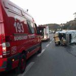 Acidente aconteceu no Km 273, na altura do bairro Cotiara, em Barra Mansa (Foto: Cedida pela PRF)