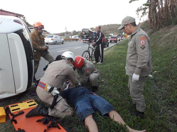 Bombeiro socorreu vítima de acidente (Foto: Cedida por Lucas De Arotildes Chaves)
