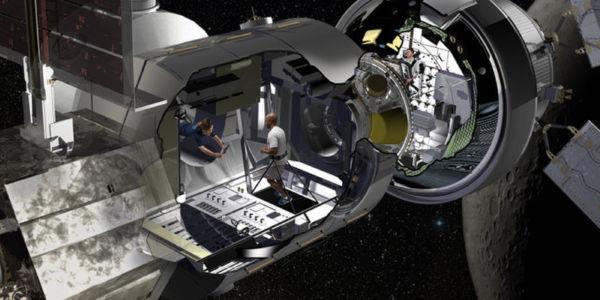 Apertada: Estação ficará perto da Lua