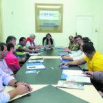 Detalhes: Representantes do Corpo de Bombeiros de Barra Mansa e da secretaria municipal de Meio Ambiente estiveram no encontro (Foto: Divulgação)