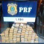 Apreensão: Drogas foram encontradas no bagageiro do coletivo (Foto: Cedida pela PRF)