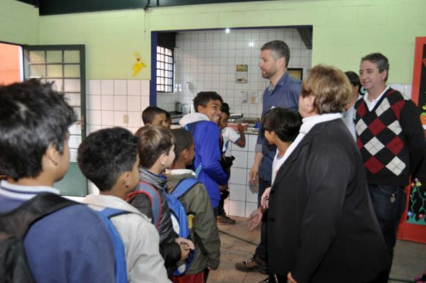 Fiscalização: Na semana passada, Rodrigo Drable participou de uma das vistorias na Escola Moacir Chiesse (Paulo Dimas/Ascom PMBM)