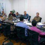 Pátio de manobras: Prefeito Rodrigo Drable recebeu comitiva nesta terça-feira na busca por soluções para que obras sejam retomadas (Foto: Chico de Assis/Ascom PMBM)