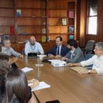 Conversando: Samuca esteve no Inea junto com Gotardo e Albertassi para falar da Rodovia do Contorno