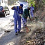 Serviços consistem em capina, roçada, raspagem de terra, limpeza de bueiro, poda de arbustos, pintura de meio fio e remoção de entulhos e volumosos (Foto: Paulo Dimas)