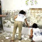 Centro de Assistência à Arte': Mutirão para limpeza geral do local contou com emboço, reboco e pintura no espaço (Foto: Geraldo Gonçalves/SecomVR)