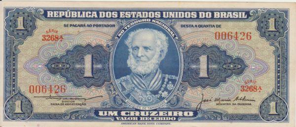 Cruzeiro: Notas eram impressas por firma americana