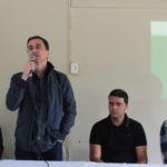 Presente: Ednardo fala durante seminário para criar o plano municipal de gestão de resíduos sólidos