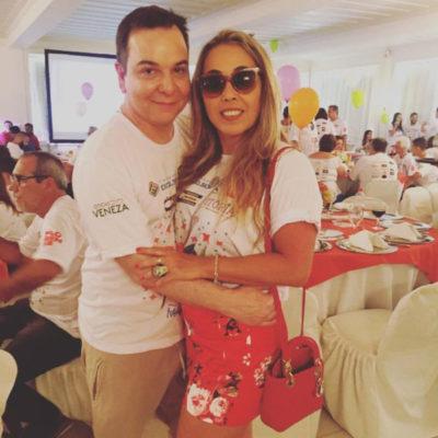 Os empresários do mundo fashion, Júlio Monteiro e Aline Aragão, nos salões do BACA FEST