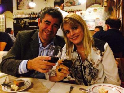 O empresário Luiz Claudio Escobar (aniversariante do dia) e a fisioterapeuta Célia Escobar