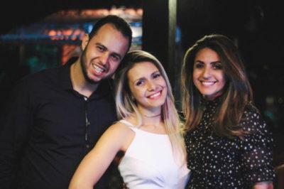 Aldrei e Dani com Andréa Barros