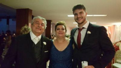 O engenheiro Marco Antônio Francisco e Maria Rita Telles Francisco com o filho Augusto Telles Francisco