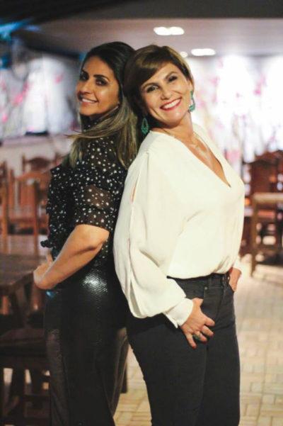 Andréa Barros com Selma Conrado