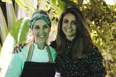 Andréa Barros com a chef Isabela Guida