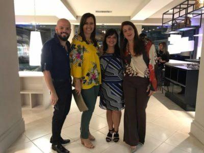 Maristela Basso com os arquitetos Saulo Araújo, Alessandra Zambroni e Geisa Soares