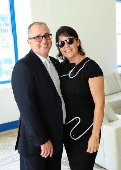 O Vice Presidente da Fundação Oswaldo Aranha, Eduardo Prado (aniversariante do dia) com sua amada Cecília Cópio Prado