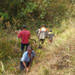 Voluntários mantém trabalho para evitar que novos focos se espalhem na Serra da Bocaina (foto: Facebook da Prefeitura de Bananal)