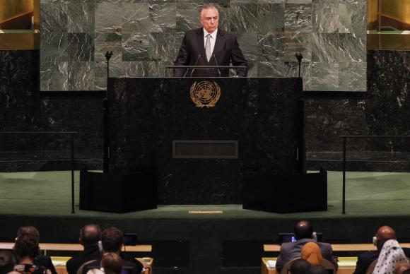 Temer fala sobre projetos do seu governo em discurso na ONU