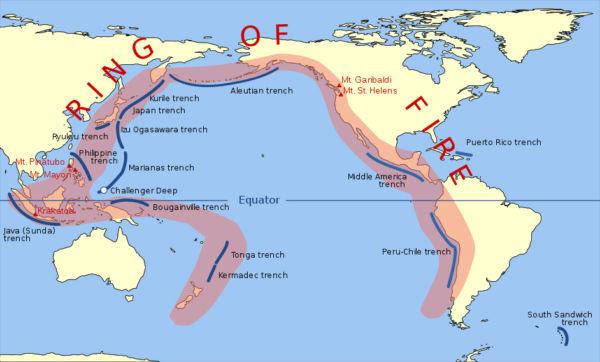 Perigo: O anel de fogo do Pacífico