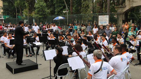 Desfile cívico: Banda Sinfônica do Projeto Música nas Escolas estará presente, tocando durante todo o evento (Foto: Gustavo Dias)