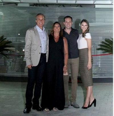 Os empresários Rafael Capobiango, Berenice Capobiango, Daniel Capobiango e Laura Capobiango, na inauguração da mais nova atração do setor