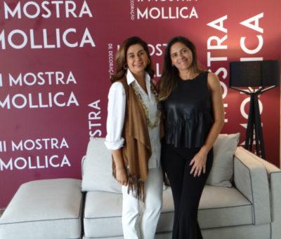 A empresária Vera Mollica, com a arquiteta  Leonor Rodrigues, que assina Casa na Praia, na Mostra