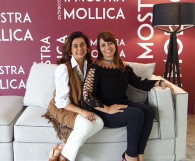 A empresária Vera Mollica com a designer de interiores  Lenira Knupp