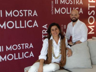 A empresária Vera Mollica com o arquiteto Saulo Araújo, curador da II Mostra Mollica de Decoração