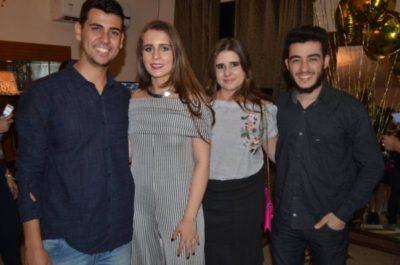 Os empresários Breno Ramos, Bianca Vilela com Anna Luiza Alves e o Fotógrafo Lucas Alves