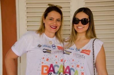 A empresária Márcia Cristina Guerra Magalhães e Ana Clara Magalhães, nos salões do BACA FEST