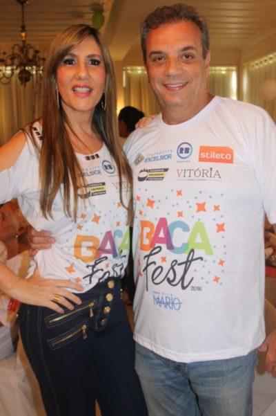O empresário Cezar de Azevedo e sua amada, Susana Michelstaedter Azevedo, nos salões do BACA FEST