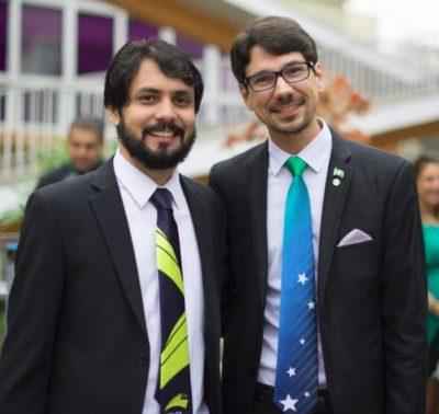 O prefeito de Volta Redonda, Samuca Silva, e o cerimonialista e jornalista, Lyncoln da Mata Negreiros
