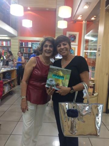 Solange Whehaibe com a designer de interiores Cátia Andréia Vianna