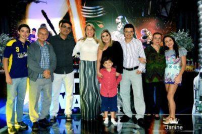 Pedro Cardoso, empresário Antônio Cardoso, José Antonio Oliveira, Priscilla Pina, Ana Vitória, Júlio Cardoso, Adalgisa Cardoso e Ana Clara Cardoso