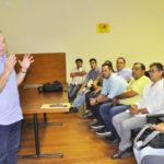 Fernando Jordão e líderes comunitários e sindicais discutem medidas para amenizar crise no Estaleiro BrasFels