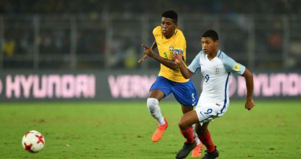 Camisa 9: Inglês Rhian Brewster foi o carrasco do Brasil, marcando os três gols e assumiu artilharia do campeonato (Foto: Divulgação/CBF)
